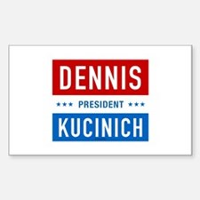 Kucinich for President Rectangle Decal