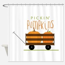 Pickin Pumpkins Shower Curtain