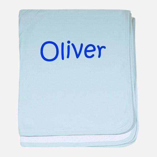Oliver-kri blue baby blanket