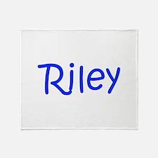 Riley-kri blue Throw Blanket