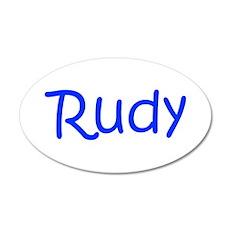Rudy-kri blue Wall Decal
