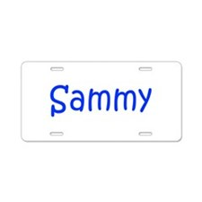 Sammy-kri blue Aluminum License Plate