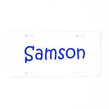 Samson-kri blue Aluminum License Plate