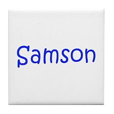 Samson-kri blue Tile Coaster
