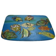 Bathmat With Coloured Tropical Fishes