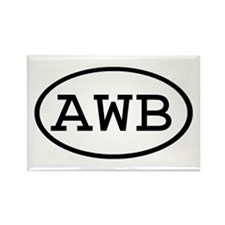 AWB Oval Rectangle Magnet (10 pack)