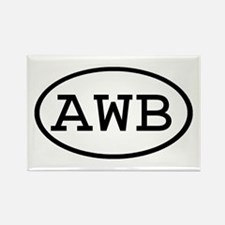 AWB Oval Rectangle Magnet