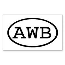 AWB Oval Rectangle Decal