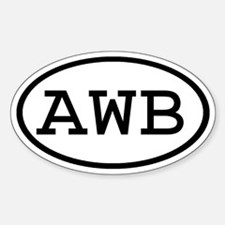 AWB Oval Oval Decal
