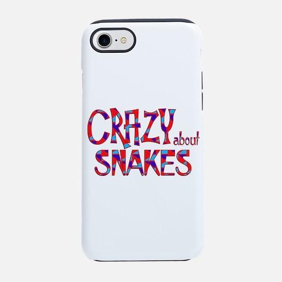 Crazy About Snakes iPhone 7 Tough Case