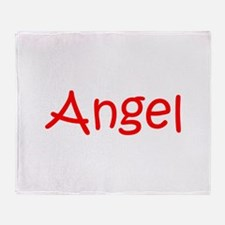 Angel-kri red Throw Blanket