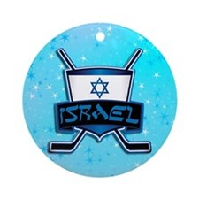 Israel Ice Hockey Flag Ornament (round)