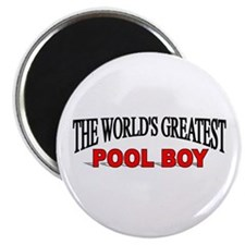 """""""The World's Greatest Pool Boy"""" Magnet"""