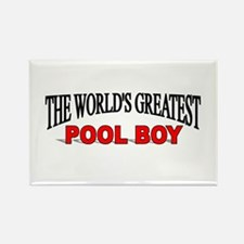 """""""The World's Greatest Pool Boy"""" Rectangle Magnet"""