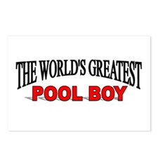 """""""The World's Greatest Pool Boy"""" Postcards (Package"""