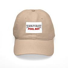 """The World's Greatest Pool Boy"" Baseball Cap"