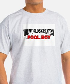 """The World's Greatest Pool Boy"" T-Shirt"