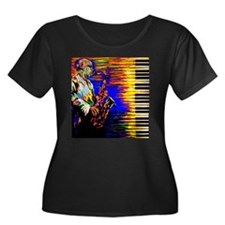 Music Series Plus Size T-Shirt