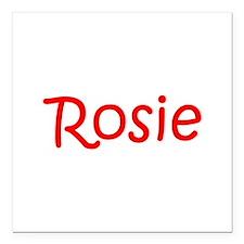 "Rosie-kri red Square Car Magnet 3"" x 3"""