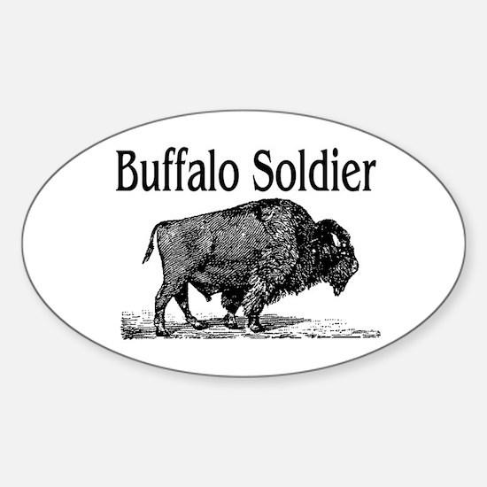 BUFFALO SOLDIER Sticker (Oval)