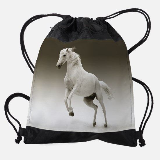 White Horse Drawstring Bag