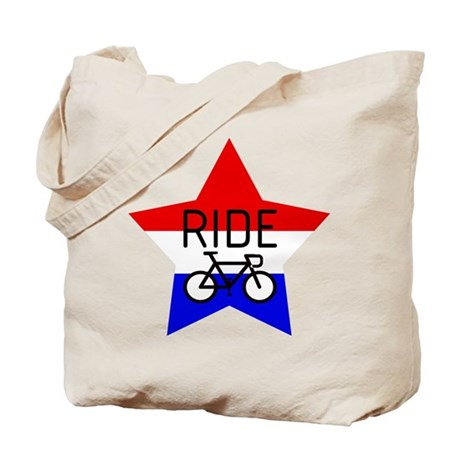 RIDE, RED WHITE & BLUE Tote Bag
