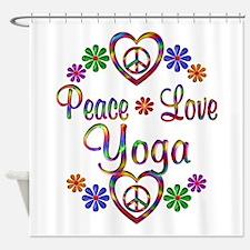 Peace Love Yoga Shower Curtain