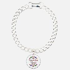 Peace Love Yoga Bracelet