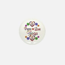 Peace Love Yoga Mini Button (100 pack)