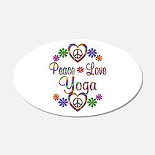Peace Love Yoga Wall Decal