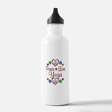 Peace Love Yoga Sports Water Bottle