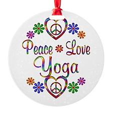 Peace Love Yoga Ornament