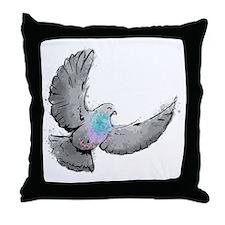 pigeon design Throw Pillow
