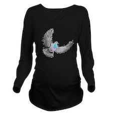 pigeon design Long Sleeve Maternity T-Shirt