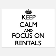 Keep Calm and focus on Rentals Invitations