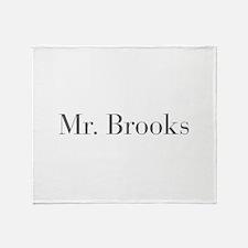 Mr Brooks-bod gray Throw Blanket