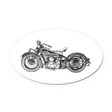 1937 Motorcycle Oval Car Magnet