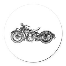 1937 Motorcycle Round Car Magnet