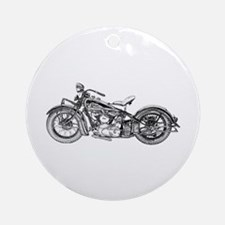 1937 Motorcycle Ornament (Round)