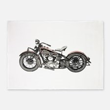 1937 Motorcycle 5'x7'Area Rug