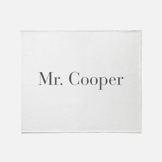Mr Cooper-bod gray Throw Blanket