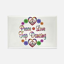 Peace Love Tap Dancing Rectangle Magnet (10 pack)