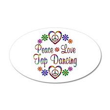 Peace Love Tap Dancing Wall Decal
