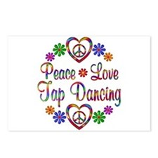 Peace Love Tap Dancing Postcards (Package of 8)