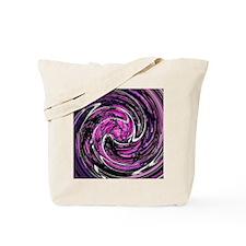 Purple White Black Swirl Tote Bag