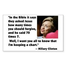 Clinton on Forgiveness Rectangle Decal
