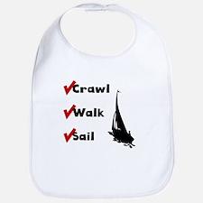 Crawl Walk Sail Bib
