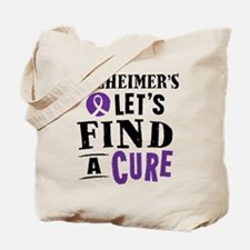Alzheimers Lets Find A Cure Tote Bag