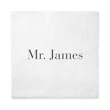Mr James-bod gray Queen Duvet