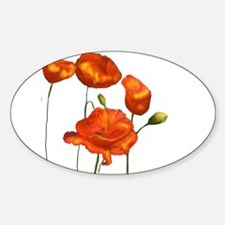 Poppies (orange) Decal
